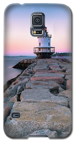 Maine Coastal Sunset Over The Spring Breakwater Lighthouse Galaxy S5 Case
