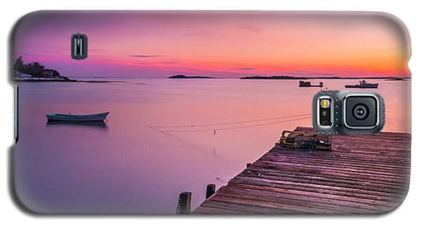 Galaxy S5 Case featuring the photograph Maine Cooks Corner Lobster Shack At Sunset by Ranjay Mitra