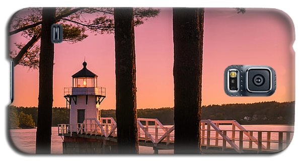 Maine Doubling Point Lighthouse At Sunset Panorama Galaxy S5 Case