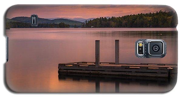 Maine Highland Lake Boat Ramp At Sunset Galaxy S5 Case