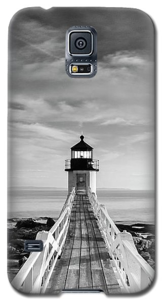 Maine Marshall Point Lighthouse Vertical Panorama In Black And White Galaxy S5 Case