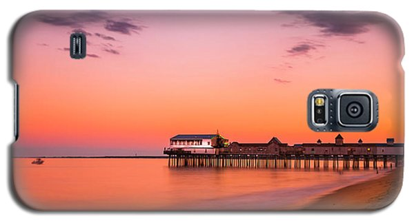Maine Old Orchard Beach Pier At Sunset Galaxy S5 Case