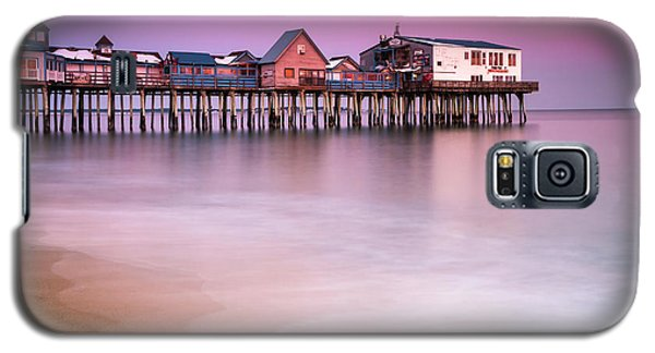 Galaxy S5 Case featuring the photograph Maine Old Orchard Beach Pier Sunset  by Ranjay Mitra
