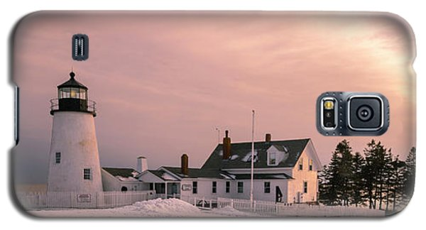 Maine Pemaquid Lighthouse After Winter Snow Storm Galaxy S5 Case
