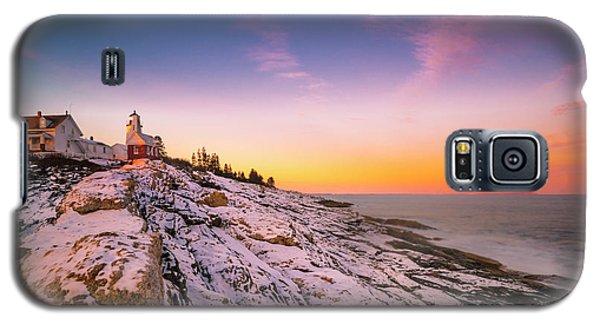 Maine Pemaquid Lighthouse In Winter Snow Galaxy S5 Case