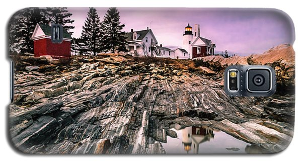 Galaxy S5 Case featuring the photograph Maine Pemaquid Lighthouse Reflection In Summer by Ranjay Mitra
