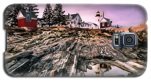 Maine Pemaquid Lighthouse Reflection In Summer Galaxy S5 Case