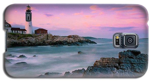 Maine Portland Headlight Lighthouse At Sunset Panorama Galaxy S5 Case