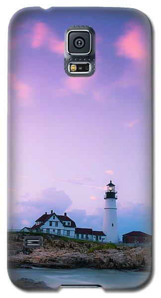 Maine Portland Headlight Lighthouse In Blue Hour Galaxy S5 Case