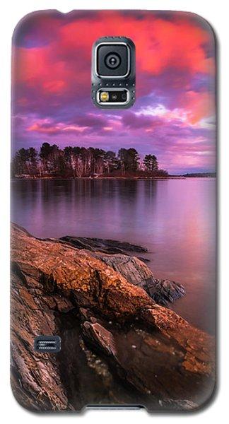 Maine Pound Of Tea Island Sunset At Freeport Galaxy S5 Case