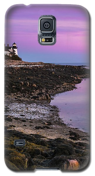 Maine Prospect Harbor Lighthouse Sunset In Winter Galaxy S5 Case