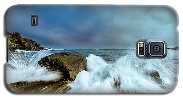 Maine Rocky Coast During Storm At Two Lights Galaxy S5 Case