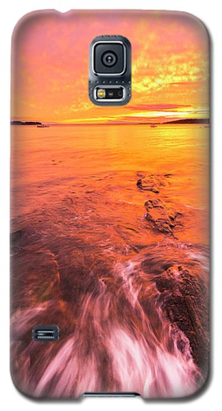 Maine Rocky Coastal Sunset At Kettle Cove Galaxy S5 Case