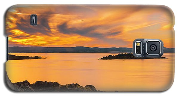 Maine Rocky Coastal Sunset In Penobscot Bay Panorama Galaxy S5 Case