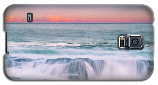 Maine Rocky Coastal Sunset Panorama Galaxy S5 Case
