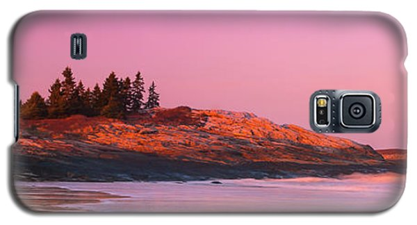 Maine Sheepscot River Bay With Cuckolds Lighthouse Sunset Panorama Galaxy S5 Case