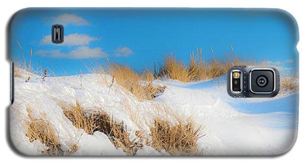 Maine Snow Dunes On Coast In Winter Panorama Galaxy S5 Case