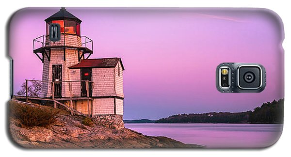 Maine Squirrel Point Lighthouse On Kennebec River Sunset Panorama Galaxy S5 Case