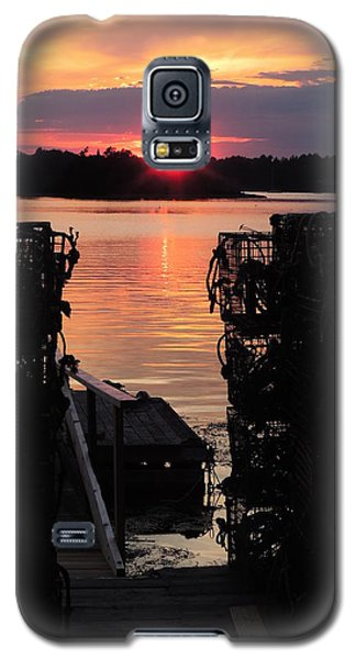Maine Sunset And Traps Galaxy S5 Case