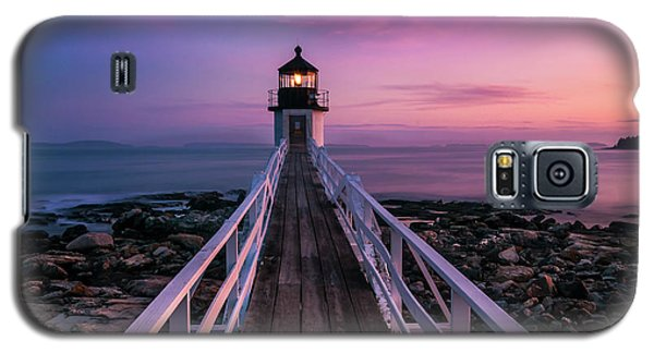 Maine Sunset At Marshall Point Lighthouse Galaxy S5 Case