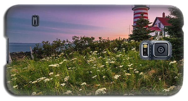 Maine West Quoddy Head Lighthouse Sunset Galaxy S5 Case