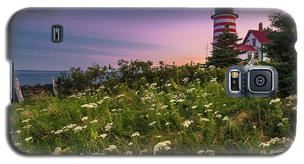 Galaxy S5 Case featuring the photograph Maine West Quoddy Head Lighthouse Sunset by Ranjay Mitra