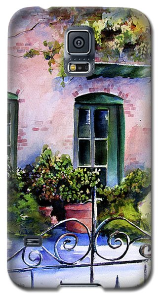 Galaxy S5 Case featuring the painting Maison Fleurie by Marti Green