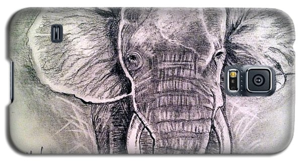 Galaxy S5 Case featuring the painting Majestic Elephant by Brindha Naveen