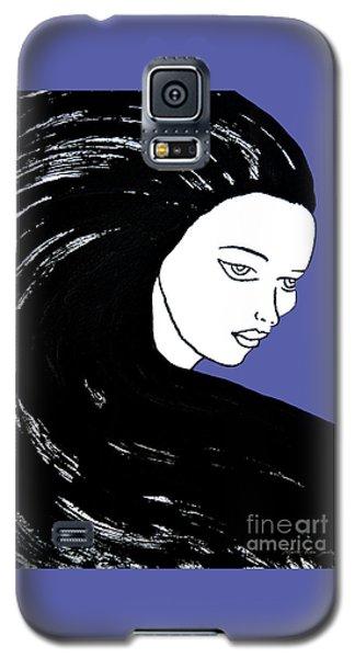 Majestic Lady J0715f J0715f Marina Blue Pastel Painting 17-4041 4f84c4 585fa8 Galaxy S5 Case
