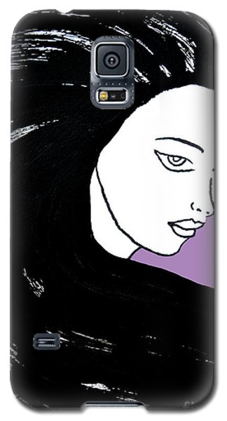 Majestic Lady J0715h Radient Orchid Pastel Painting 18-3224 B565a7 A985bb Galaxy S5 Case