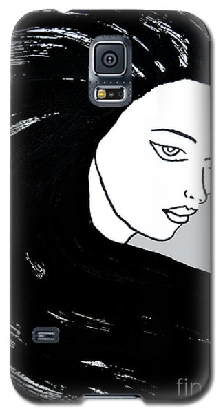 Majestic Lady J0715i Shadow Gray Pastel Painting 16-1509 Bba5a0 C6cacc Galaxy S5 Case