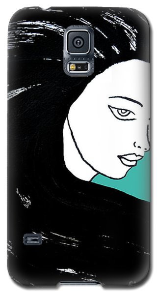 Majestic Lady J0715k Turquoise Green Pastel Painting 15-5519 41b6ab Galaxy S5 Case
