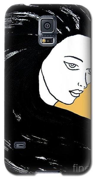 Majestic Lady Mimosa Yellow Pastel Painting 14-0848 F0b59 Galaxy S5 Case
