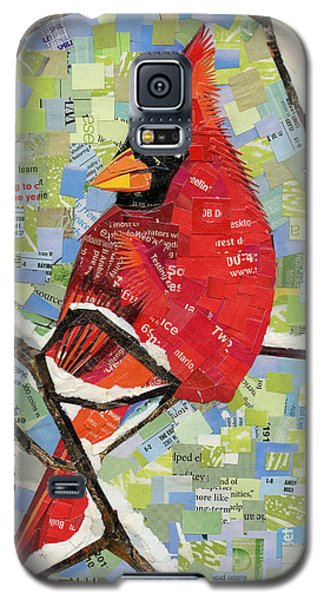 Majestic Red Cardinal  Galaxy S5 Case by Shawna Rowe