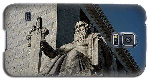 Galaxy S5 Case featuring the photograph Majesty Of Law by Chrystal Mimbs