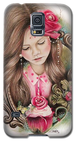 Galaxy S5 Case featuring the drawing Make A Wish  by Sheena Pike