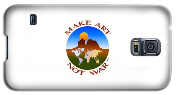 Make Art Not War Logo Galaxy S5 Case