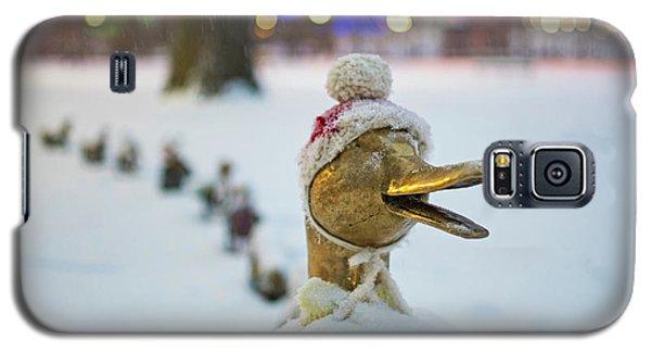 Make Way For Ducklings Winter Hats Boston Public Garden Christmas Galaxy S5 Case