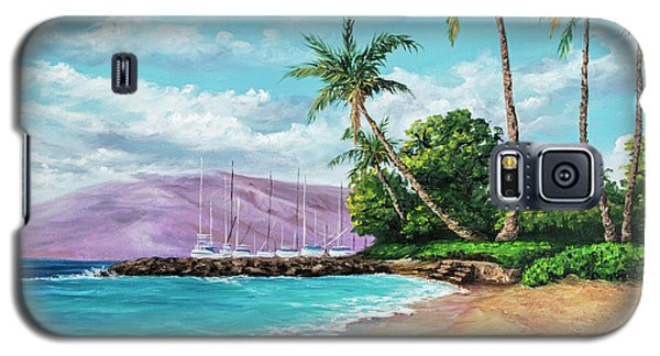Galaxy S5 Case featuring the painting Makila Beach by Darice Machel McGuire