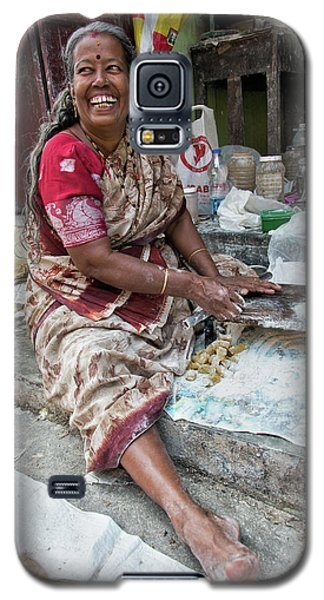Galaxy S5 Case featuring the photograph Making Chapatti by Marion Galt