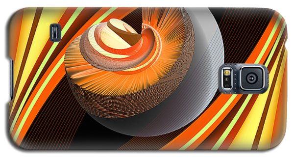 Galaxy S5 Case featuring the digital art Making Orange Planets by Angelina Vick