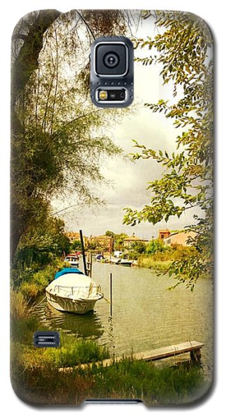 Galaxy S5 Case featuring the photograph Malamocco Canal No1 by Anne Kotan