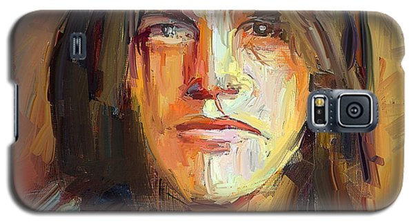 Malcolm Young Acdc Tribute Portrait Galaxy S5 Case