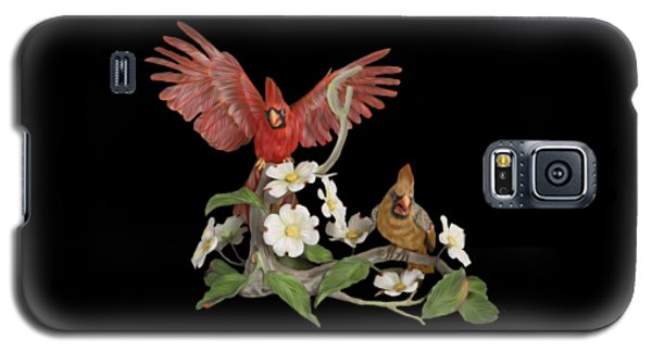 Male And Female Cardinals  Galaxy S5 Case by Walter Colvin