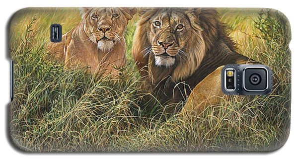 Male And Female Lion Galaxy S5 Case