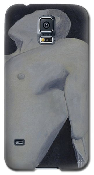 Galaxy S5 Case featuring the painting Male Black And White by Lori Jacobus-Crawford