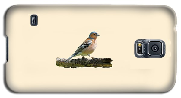 Galaxy S5 Case featuring the photograph Male Chaffinch, Transparent Background by Paul Gulliver