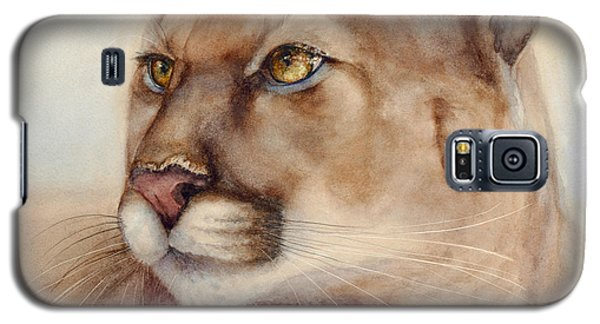Galaxy S5 Case featuring the painting Male Cougar by Bonnie Rinier
