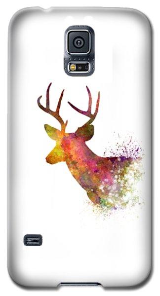 Male Deer 02 In Watercolor Galaxy S5 Case