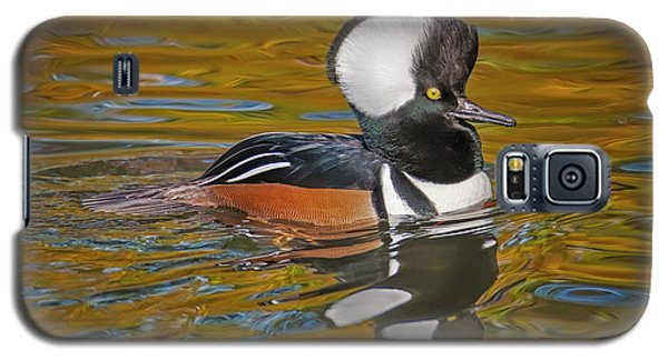 Galaxy S5 Case featuring the photograph Male Hooded Merganser Duck by Susan Candelario